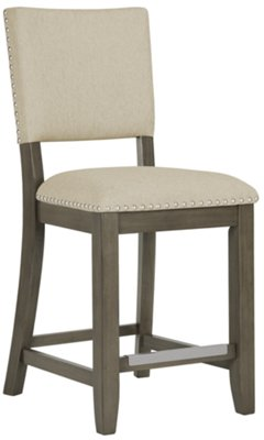 Omaha Gray High Table U0026 4 Upholstered Barstools