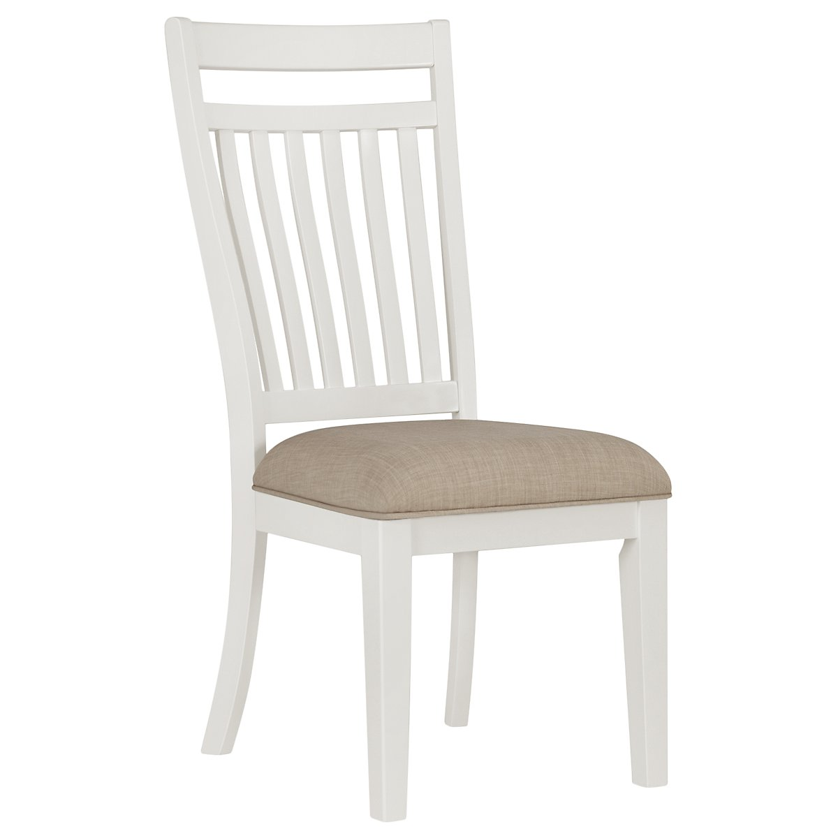 Sao Paolo White Wood Side Chair