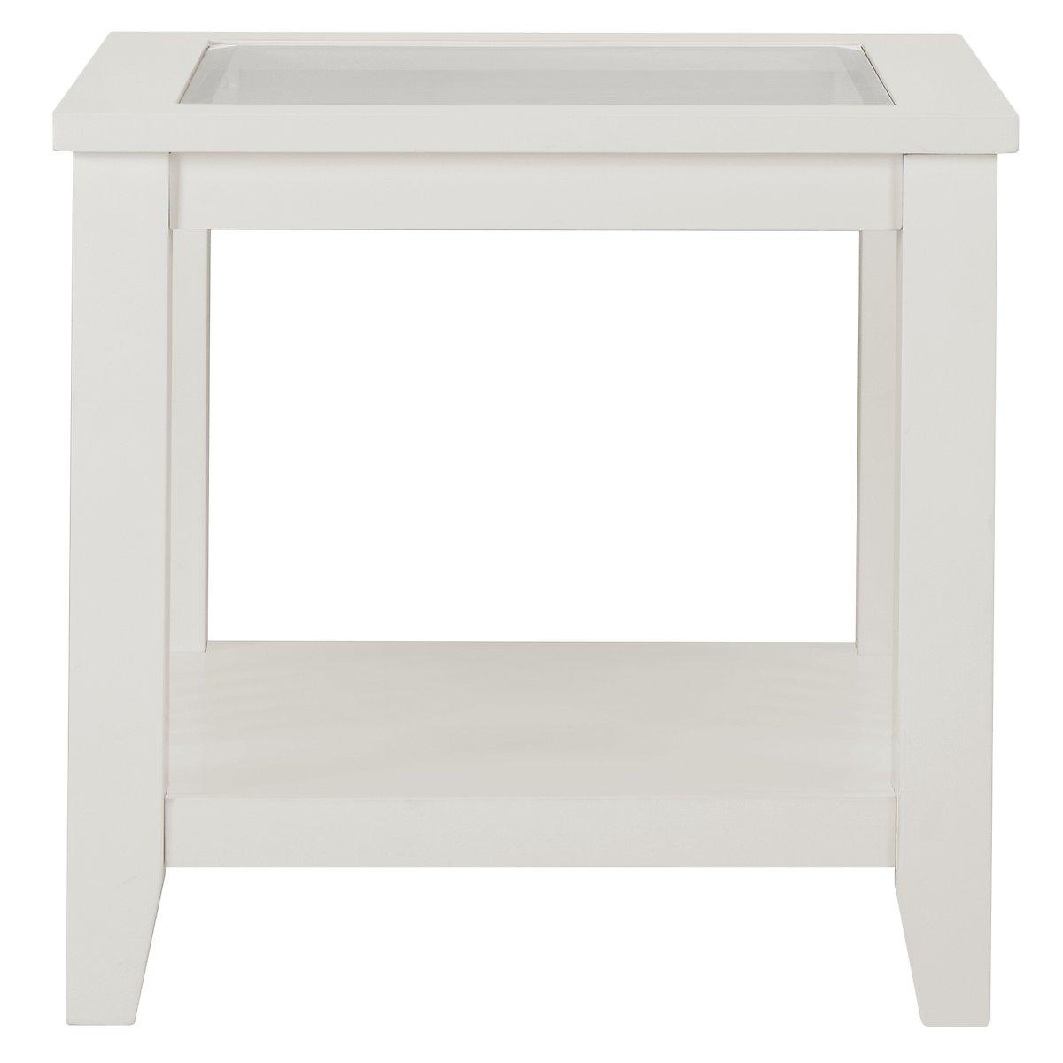 Sao Paolo White End Table