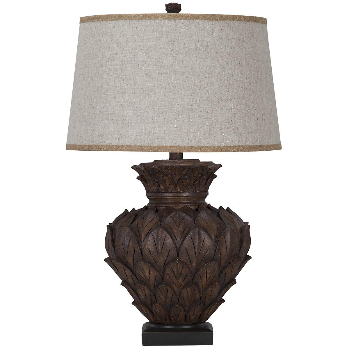 Aruba Dark Brown Table Lamp