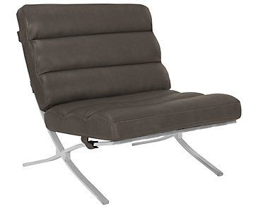 Hyde Dark Gray Bonded Leather Accent Chair