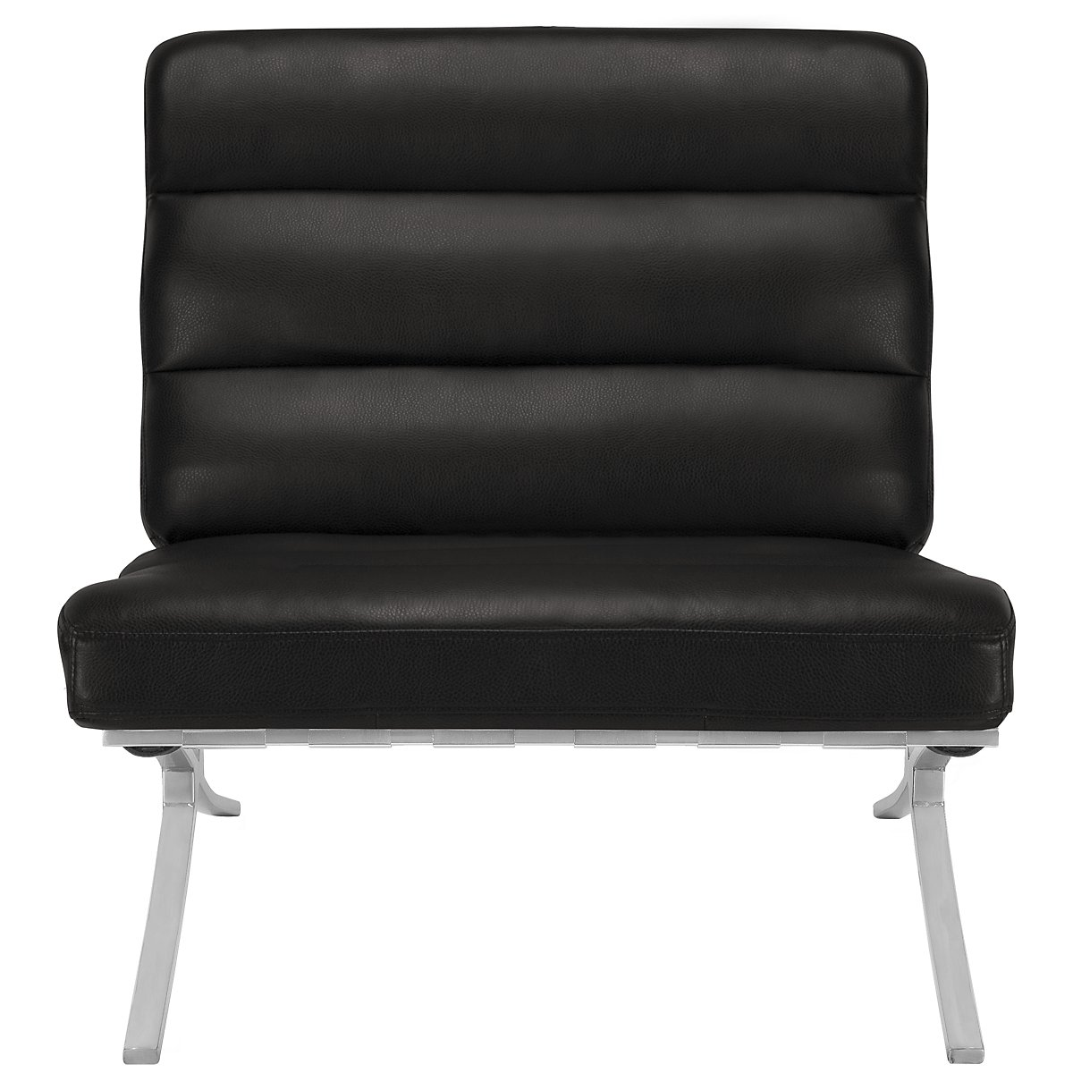 City Furniture: Hyde Black Bonded Leather Accent Chair