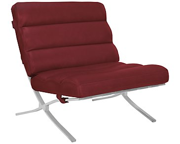Hyde Red Bonded Leather Accent Chair