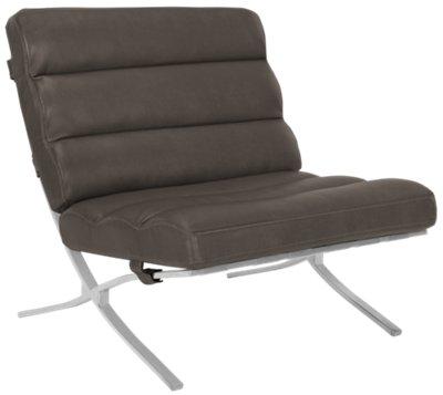 Tatiana Dark Gray Microfiber Accent Chair