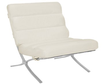 Tatiana White Microfiber Accent Chair