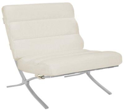 Tatiana White Microfiber Accent Chair