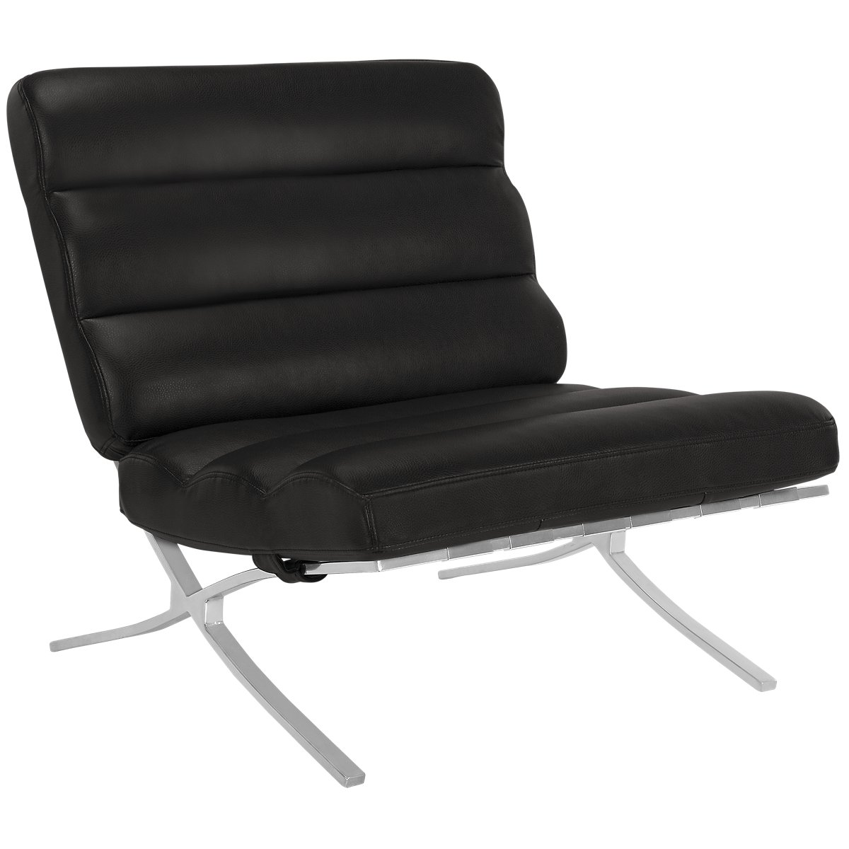 Tatiana Black Microfiber Accent Chair