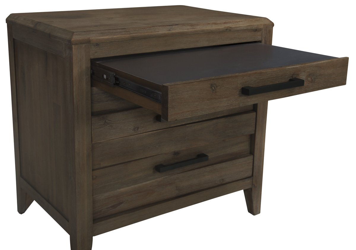 Casablanca Dark Tone Wood Nightstand