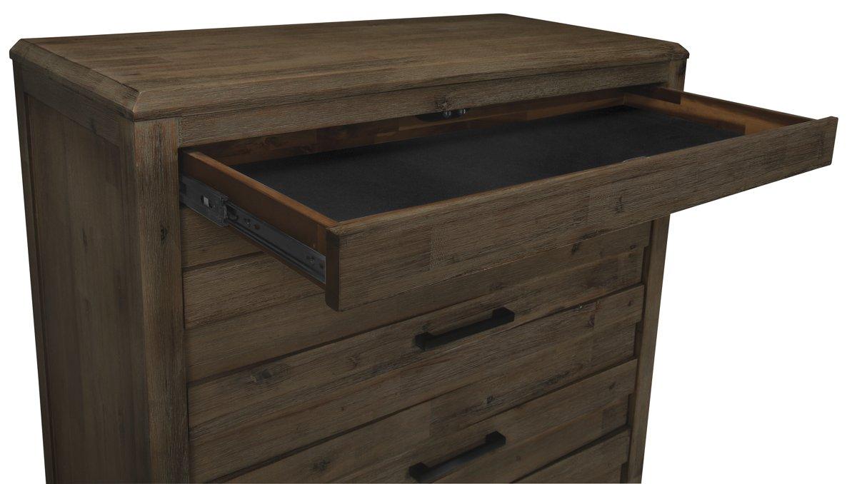 Casablanca Dark Tone Wood Drawer Chest