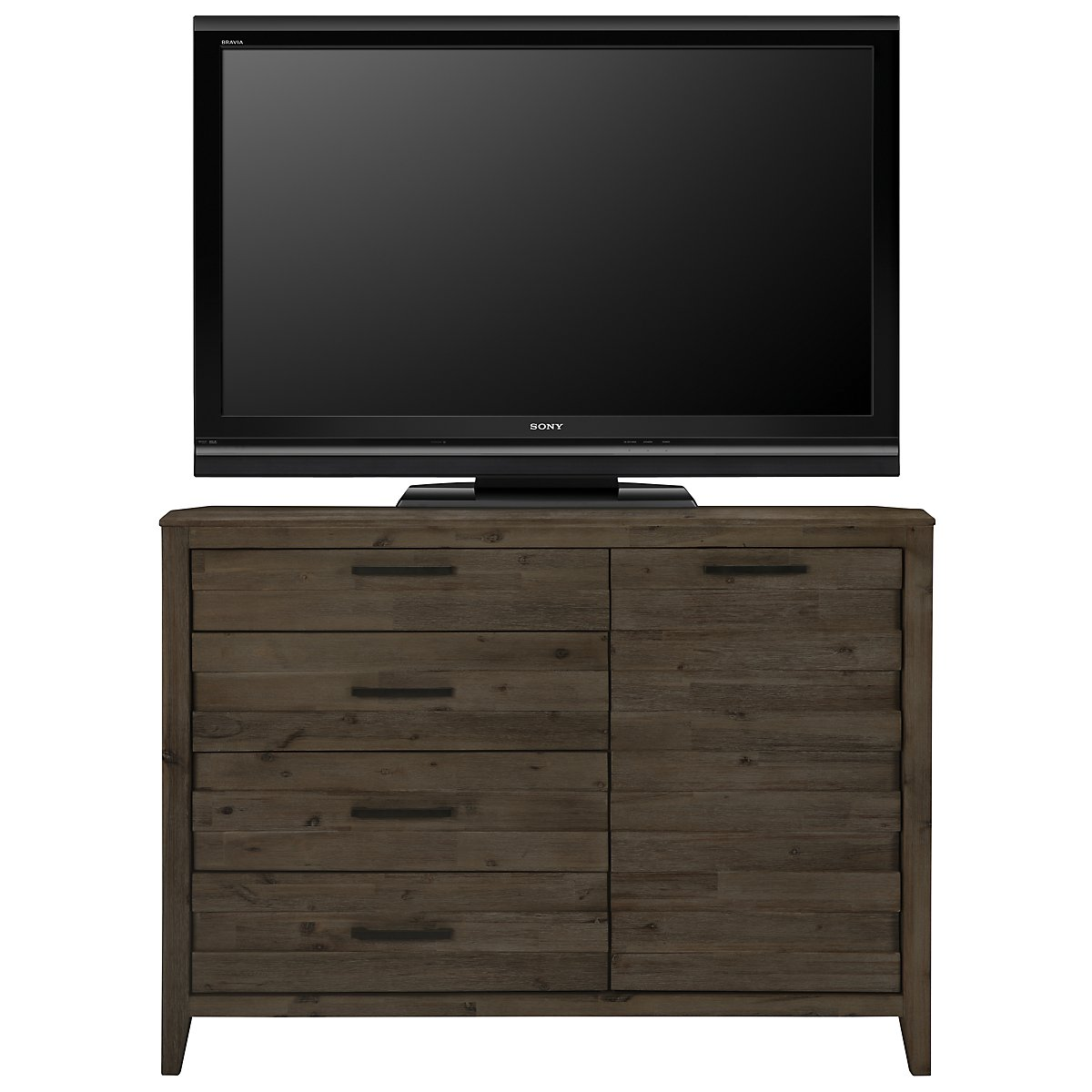 Casablanca Dark Tone Wood Media Chest