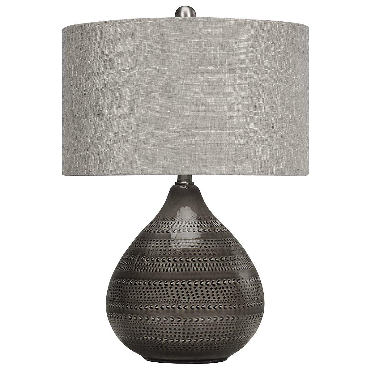 Sapelo Dark Gray Table Lamp