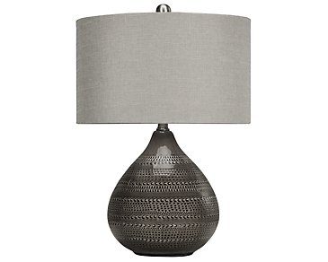 Sapelo Dark Gray Table Lamp
