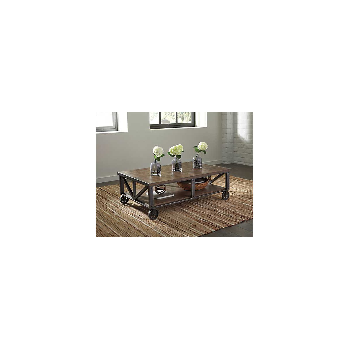 Zenfield Dark Tone Cad Rectangular Coffee Table