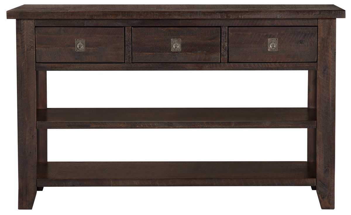 City Furniture Kona Grove Dark Tone Storage Sofa Table