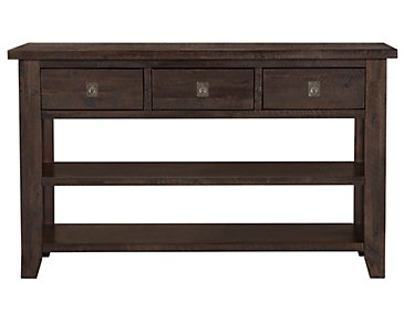 Kona Grove Dark Tone Storage Sofa Table