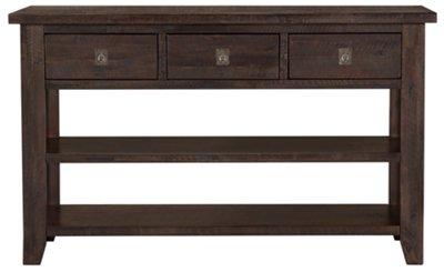 kona grove dark tone storage sofa table