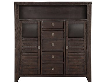 Kona Grove Dark Tone Large China Cabinet
