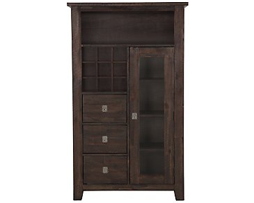 Kona Grove Dark Tone Small China Cabinet