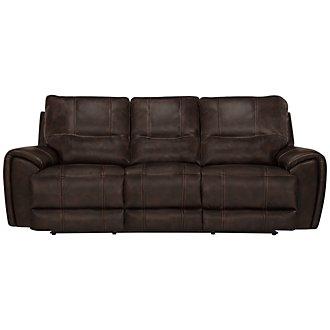 Nico Dark Brown Microfiber Power Reclining Sofa