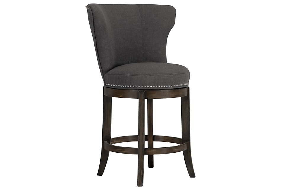 Amazing Cayden Dark Gray Fabric 24 Swivel Barstool Forskolin Free Trial Chair Design Images Forskolin Free Trialorg