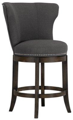 Cayden Dark Gray Fabric 24  Swivel Barstool  sc 1 st  City Furniture & City Furniture: Cayden Dk Gray Fabric 24