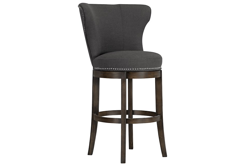 Remarkable Cayden Dark Gray Fabric 30 Swivel Barstool Dining Room Dailytribune Chair Design For Home Dailytribuneorg