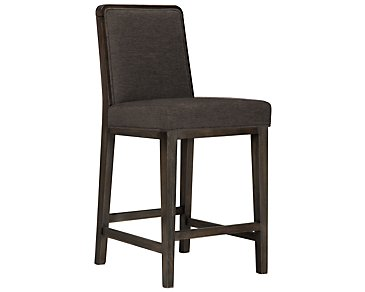 "Alisa Dark Gray Fabric 24"" Barstool"