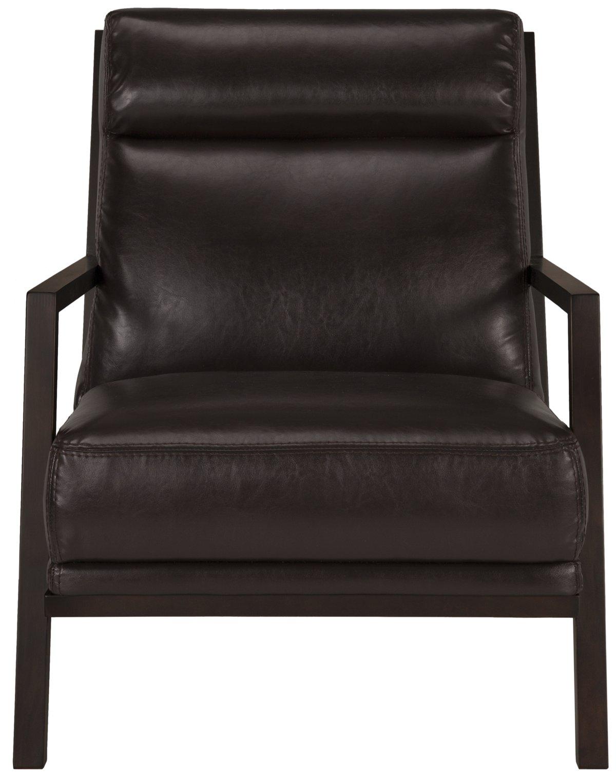 Brando Dark Brown Bonded Leather Accent Chair