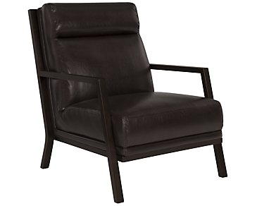 Brando Dark Brown Bonded Leather Accent Chair