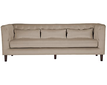 Robin Beige Microfiber Sofa