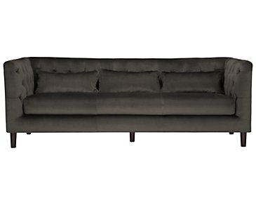 Robin Dark Gray Microfiber Sofa