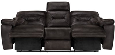 Phoenix Dark Gray Microfiber Reclining Sofa. VIEW LARGER