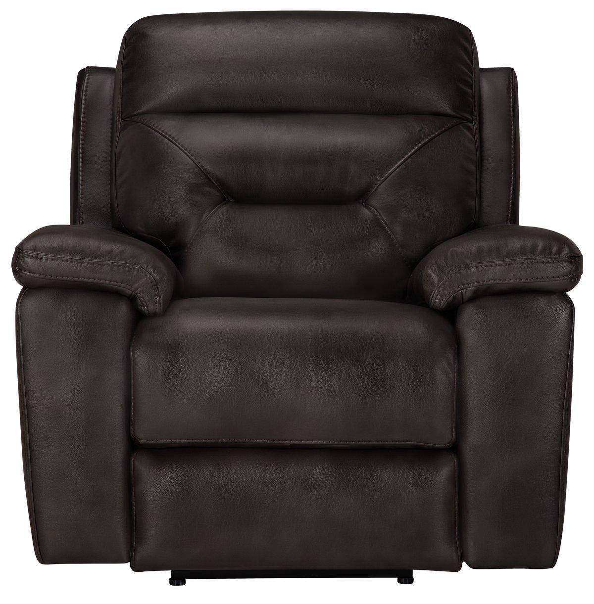 city furniture phoenix dk gray microfiber recliner