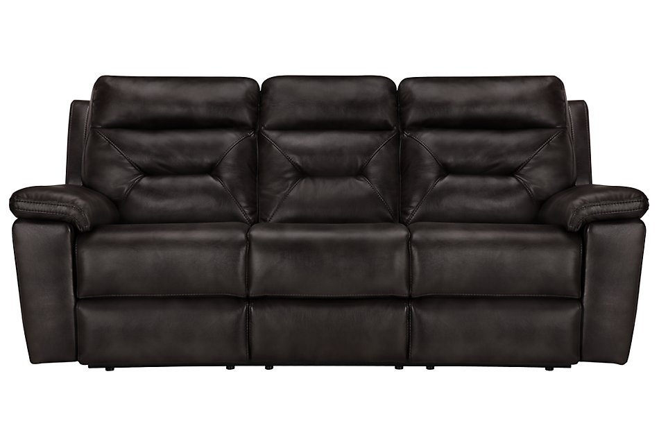 Phoenix Dark Gray Micro Power Reclining Sofa | Living Room ...