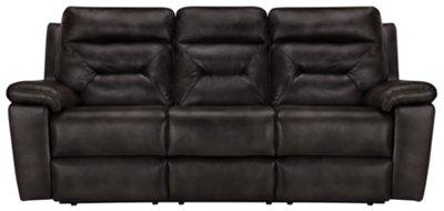 Phoenix Dark Gray Microfiber Power Reclining Sofa