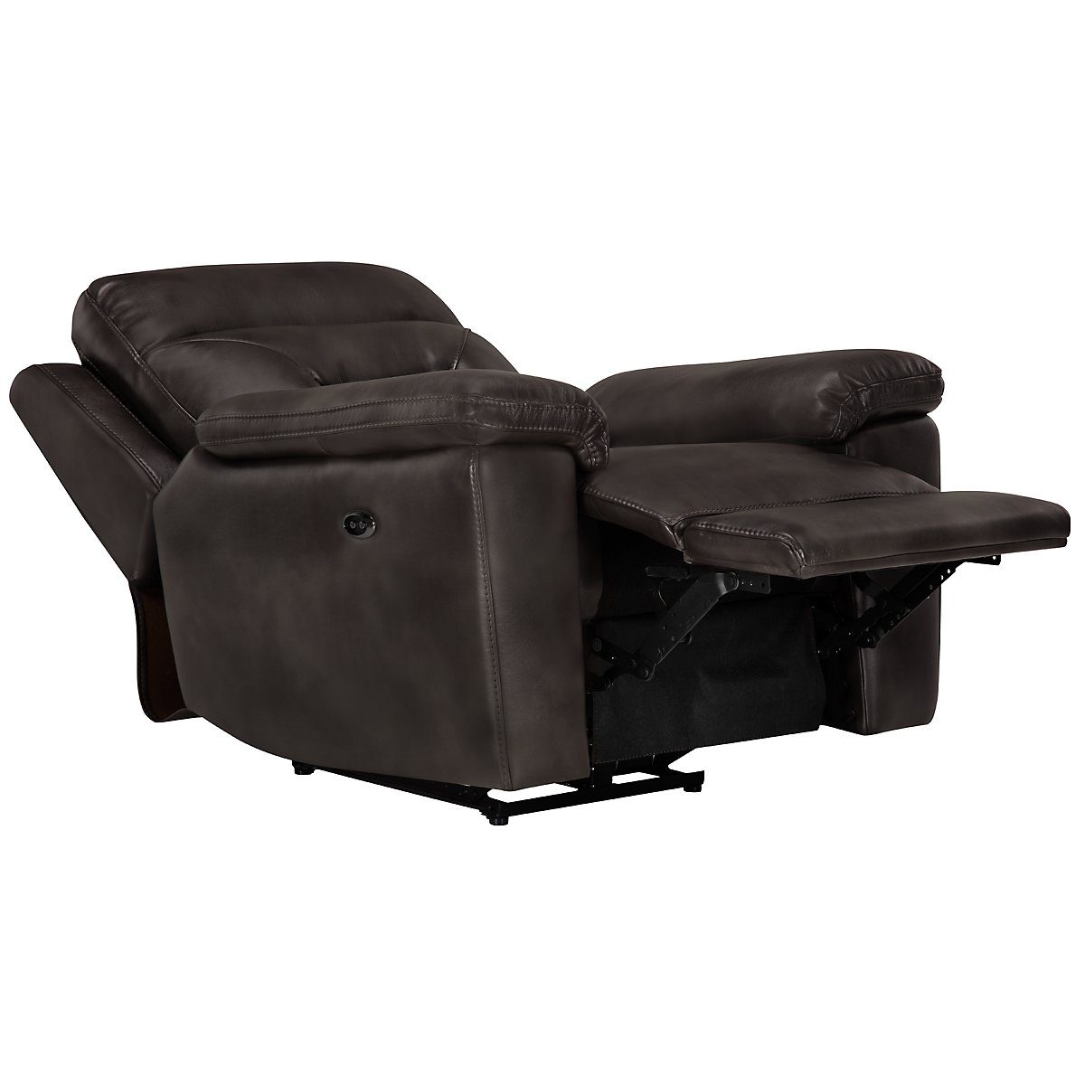 Phoenix Dark Gray Microfiber Power Recliner