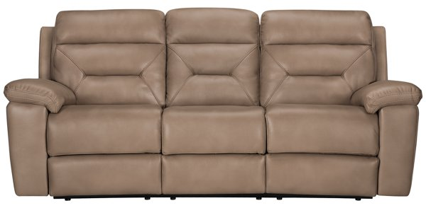 Popular image of Phoenix Dark Beige Microfiber Reclining Sofa with sku Top Search - Best of leather beige sofa Luxury