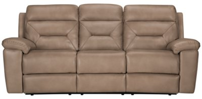 Phoenix Dark Beige Microfiber Reclining Sofa Part 60