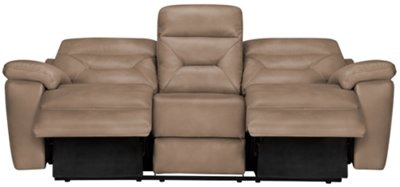 Phoenix Dark Beige Microfiber Reclining Sofa. VIEW LARGER
