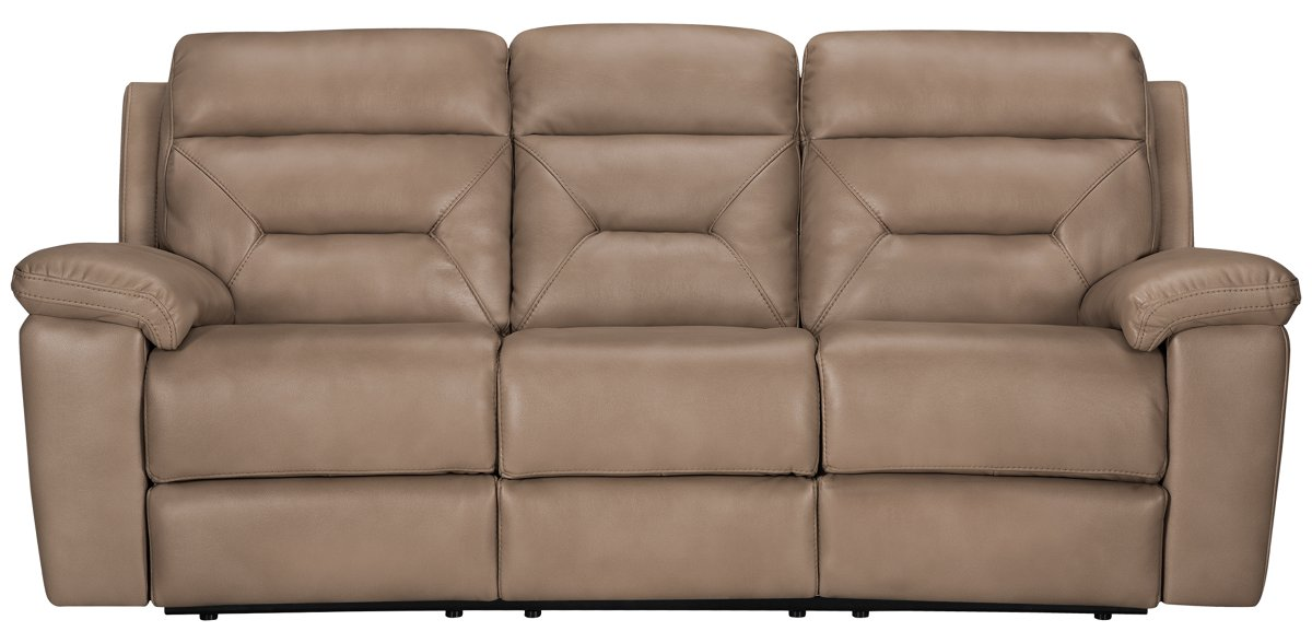 Phoenix Dark Beige Microfiber Power Reclining Sofa