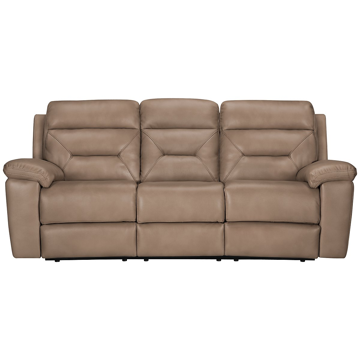 Phoenix Dark Beige Microfiber Micro Power Reclining Sofa