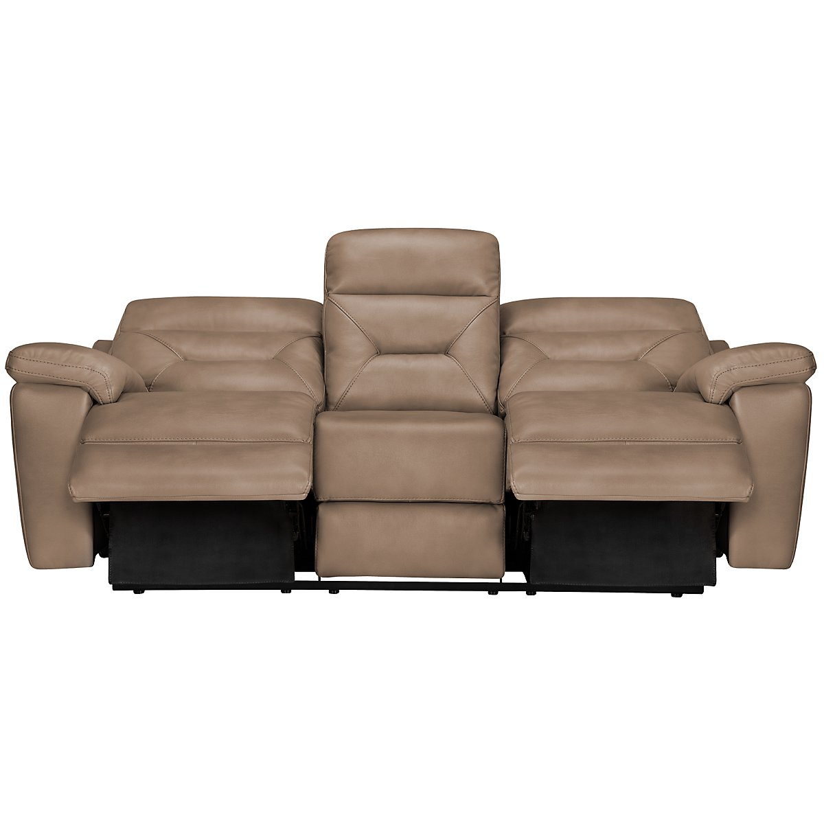Phoenix dark beige microfiber power reclining sofa for Microsuede living room furniture