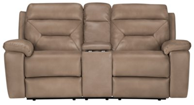 Phoenix Dark Beige Microfiber Power Reclining Loveseat  sc 1 st  City Furniture & City Furniture: Phoenix Dk Beige Microfiber Power Reclining Loveseat islam-shia.org