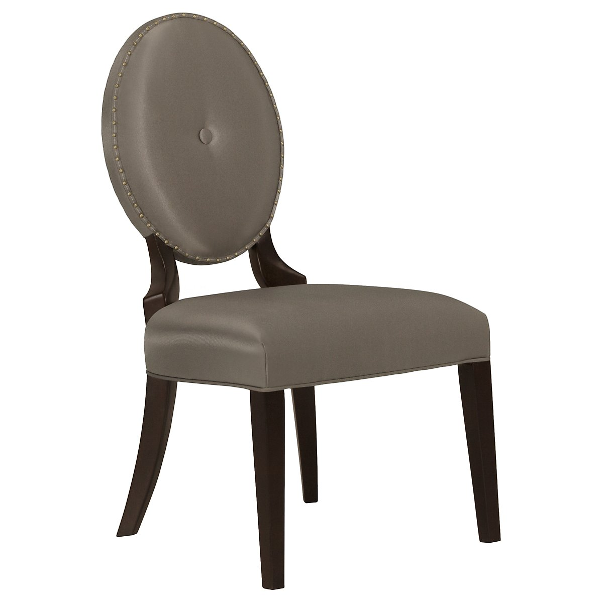 Jet Set Gray Upholstered Side Chair