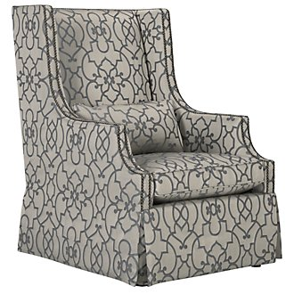 Darbin Multicolored Fabric Accent Chair