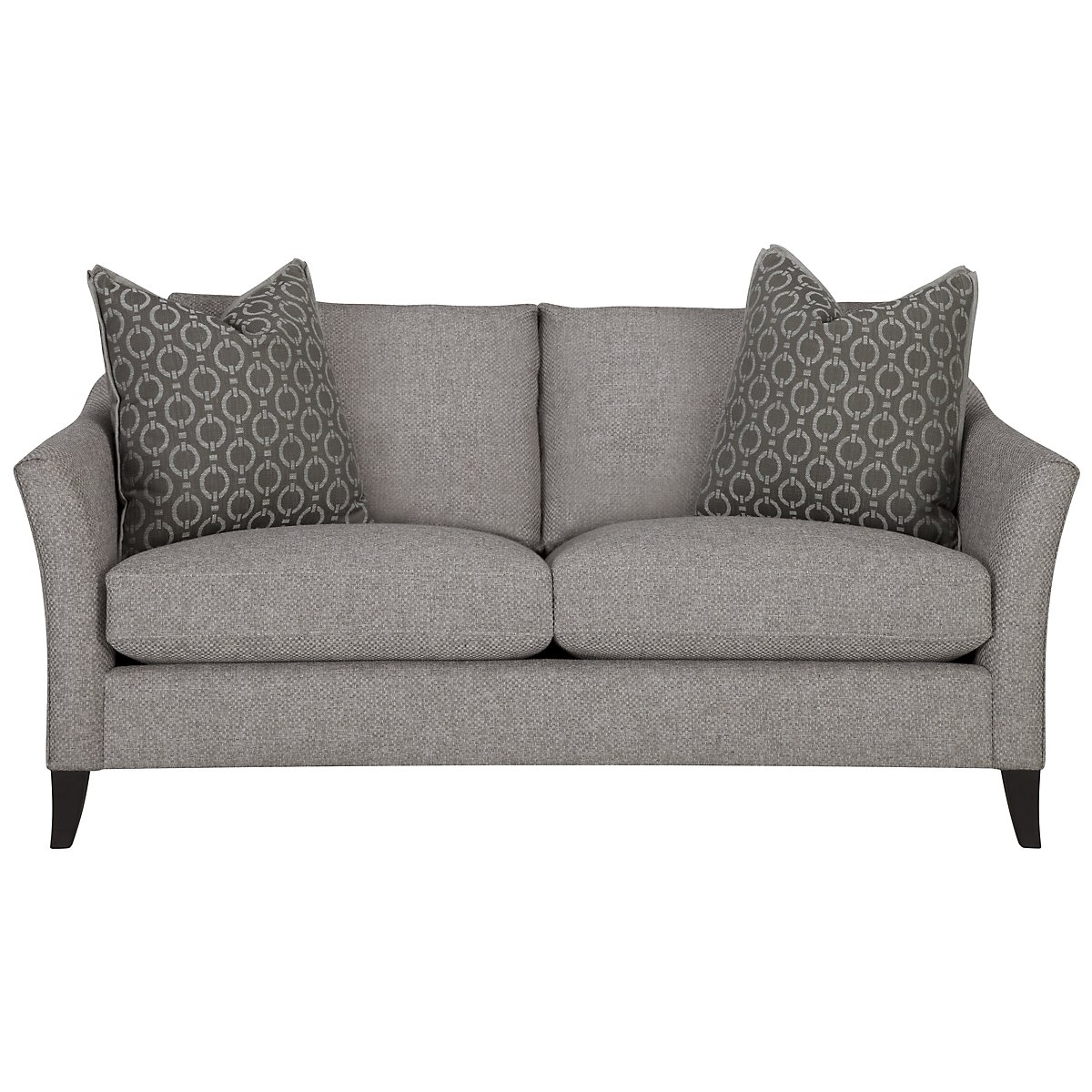 Claiborne Light Gray Fabric Loveseat
