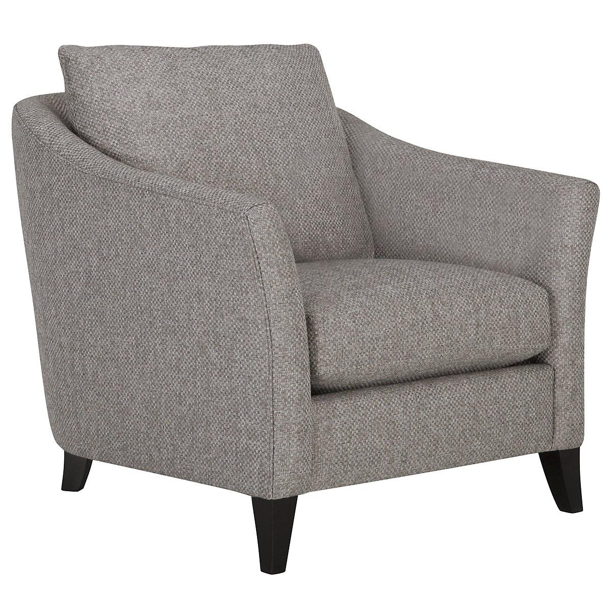 Claiborne Light Gray Fabric Chair