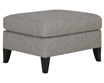Claiborne Light Gray Fabric Ottoman