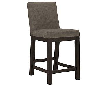 "Tocara Dark Tone 24"" Upholstered Barstool"