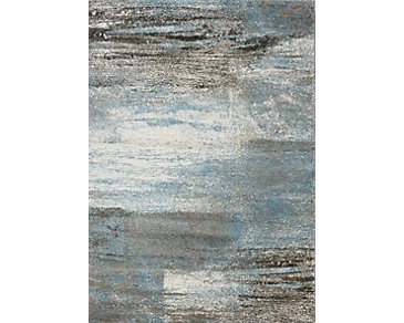 Breeze Blue 5X8 Area Rug